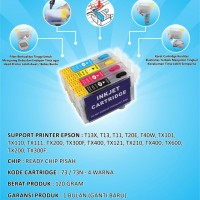 Fast Print Cartridge Mciss Epson T13x Plus Tinta 1 Set