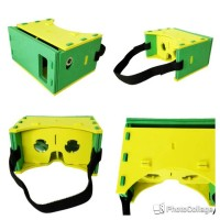 harga Google Cardboard Leather Frame 3d Vr + Strap For 4