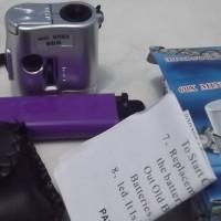 harga 60x Mikroskop/Microscope/Kaca Pembesar Batu Mini + Senter LED UV 9592 Tokopedia.com