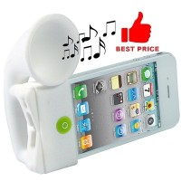 harga Portable Amplifier Silicone Horn Stand Speaker For Iphone 4/4s Tokopedia.com