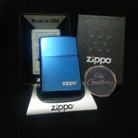 Blue Sapphire with Logo Original Zippo