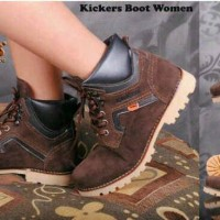 harga Sepatu Kickers Boot Women Wanita Gunung Touring Tokopedia.com