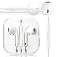OEM handsfree Apple with tombol on/off & volume for iPhone 5 - Putih