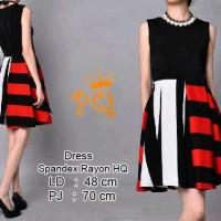 Dress Import Murah Dress Kombinasi Horizontal Vertical