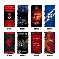 Jual Baff Bandana Club Sepakbola Elit Eropa Keren Masker Bafin Multifungsi Murah