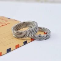Cincin Kawin - Elastis Silver Ring