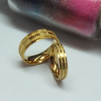 Cincin Kawin - Complex Gold Ring