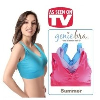 Genie Eve Bra Colour With Cup Pads sexy lingerie baju senam tank top