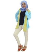 Berryblues Blouse Menyusui - BLM14 Biru / Baju Menyusui / Hijab Dress