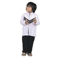 setelan baju koko anak, baju muslim cdh003 white