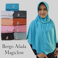 jilbab bergo afada magic line. bahan jelly