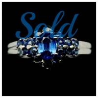 harga Sl15. Natural Blue Kyanite & Sapphire 925 Silver Ring White Goldplated Tokopedia.com