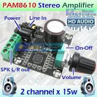 PAM8610 Amplifier 2x15w HD Digital Hi-Fi Mini Audio Ampli Class D 12v