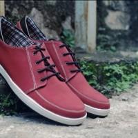 harga Sepatu Sneaker Casual Handmade Bandung Pria Murah - Jack Ankona Maroon Tokopedia.com