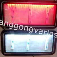 Dudukan plat nomor motor acrylic cembung dengan led (stnby dan rem)