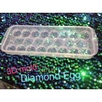 MURAH 3D mold OWL PLaSt cetakan es telur agar jelly berlian dgn tutup