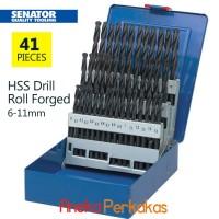 41 Pcs Mata Bor / HSS Roll Forged Drill SENATOR 6.0mm -10.0mm