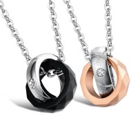 Kalung Couple - Black Gold Necklace