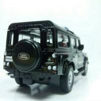 land rover defender polisi mobil Diecast miniatur hitam tokomoro