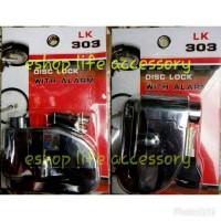 Kunci Gembok Pengaman Cakram Alarm Motor Lk 303
