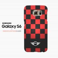 Mini Cooper Black Racing Stripes Samsung Galaxy S6 Custom Hard Case