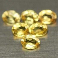 BT.SP07. NATURAL HEATED 24PCS YELLOW SONGEA SAPPHIRE OVAL 2.16 CT