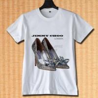 jimmy choo london logo kaos tshirt DTG A3