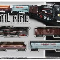 Rail King Train Set Kereta api lokomotif Uap dus merah
