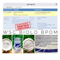 BPOM Biolo Slimming BPOM / WSC biolo resmi BPOM TR