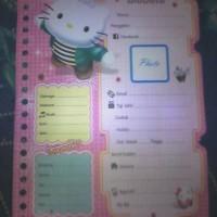 Isi Binder Biodata Hello Kitty