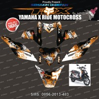 Stiker Striping Yamaha X-ride-fox-racing-cross-2 Spec B