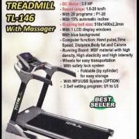 TREADMILL ELEKTRIK 1 FUNGSI TL146 3 HP