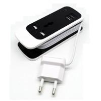 Colorful Electrical Socket EU Plug with 2 USB Port