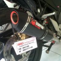 harga Knalpot Scorpion black CBR 250,CB 150,mega pro,cbr 150,tiger (pnp) Tokopedia.com