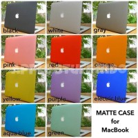 "Hard case Macbook cutout logo (bolong apple) 15"""