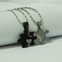 Kalung Pasangan - Black Puzzle Couple