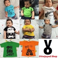 Kaos/T-shirt Baby 6 bln-1 th Custom Motif Design Sendiri by Melle Kids