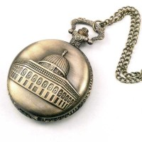 Pocket Watch Necklace / Kalung Jam Saku Vintage Masjidil Aqsa