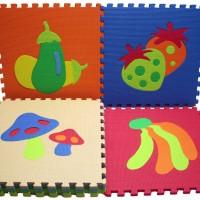 Puzzle Evamats 30 cm x 30 cm Motif Gambar Buah-buahan (Karpet Evamat)