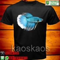 harga Kaos Ikan Betta Cupang Biru Tokopedia.com
