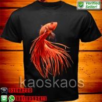 harga Kaos Ikan Betta Cupang Merah Keatas Tokopedia.com