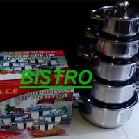 Panci Set / Cookware Set A.C.E. with SS Cover (Ger