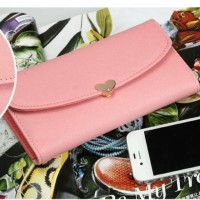 Dompet Korea, lucu, import, cewek, wanita   LOVE WALLET (Soft Pink)