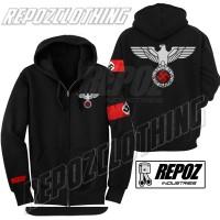 harga jaket hoodie zipper nazi nsdap / elang + strip terbaru terlaris murah Tokopedia.com