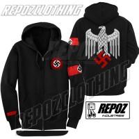 harga jaket hoodie zipper nazi nsdap / logo elang + strip terbaru termurah Tokopedia.com