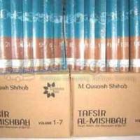 harga Tafsir Al-misbah Vol 1-15 Tokopedia.com