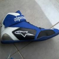 harga Sepatu Drag , biker , alpinestar biru model baru Tokopedia.com