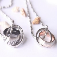 kalung couple - love ring necklace