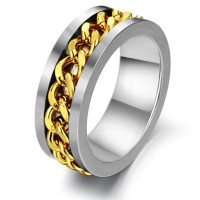 harga Cincin Single - Gold Chain Spinner Men Ring Tokopedia.com