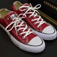 sepatu converse allstar low merah marun grade ori